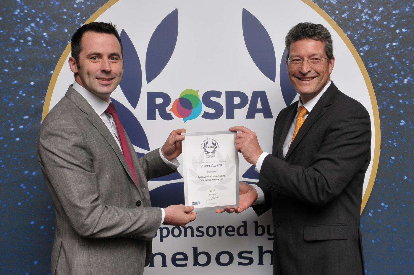 Edgewater Contacts Achieve ROSPA Silver Award Status
